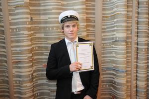 Robin Hellgren fick stipendiet Premium ur