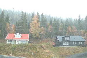 Så här såg det ut i Åre strax efter klockan 12 i dag, måndag 28 september.