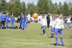 Det var många bollar i gång samtidigt på Fagerstranden när Mid Nordic Cup spelades på lördagen.