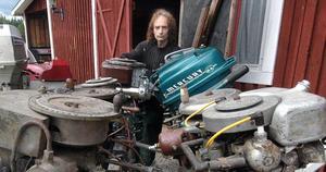 Anders Forsström har flera riktigt gamla motorer i sin samling varav en del från 1900-talets början.
