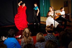 En offentlig föreställning av Flamenco de los Niños i Lillhärdal på torsdag kväll.Foto: Ulrika Andersson