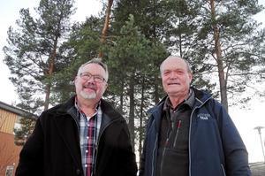 Torsten Bonde och Björn Zettervall i Falu/Borlänge blåsorkester.