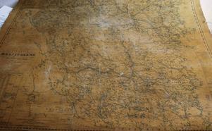 Karta över Hälsingland från 1851.