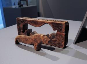 En av de äldsta dalahästar som hittats, daterad till mitten av 1500-talet.