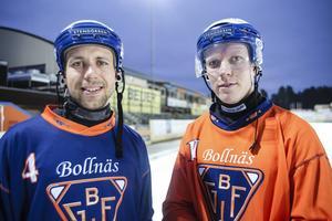 Spelmotorer redo att växla upp i Bollnäs GIF – Per Hellmyrs och Daniel Berlin.
