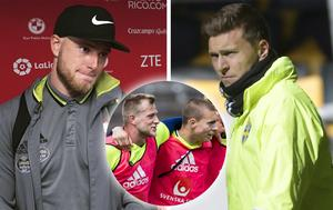 John Guidetti och Victor Nilsson Lindelöf är goda vänner i landslaget – och utanför.