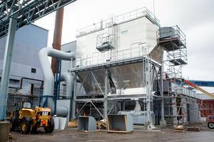 Fastbränslepannan på 15 megawatt är i det närmaste klar.