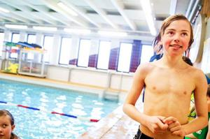 """""""Det är kul att man får bada och det är en rolig grupp"""" säger Johan Stenlund.   Foto: Per Nilsson"""