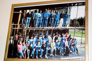 Lundahallen byggs 1986 – av Östervåla IF själva.