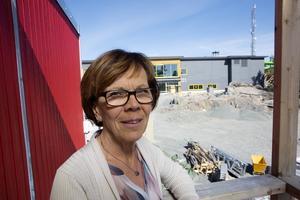 Marie-Louise Asp, här vid bygget av nya badhuset i Norrtälje.