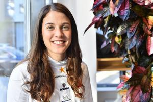 Anna Dyvik under presskonferensen i Stockholm under måndagen.