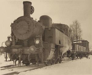 Detta lok användes vid transporter mellan Ljungaverk och ammunitionsfabriken i Gällö.