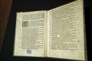 En utgåva från 1517 av Martin Luthers teser.