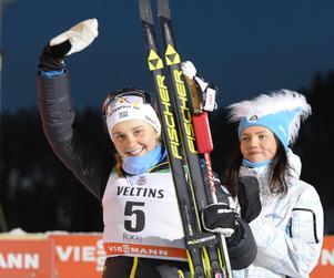 Stina Nilsson tog andraplatsen i sprinten i Ruka.