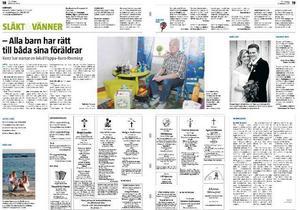 Den 20 februari skrev ÖP om Kent Blix som startat en lokal Pappa-barn-förening.