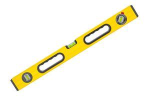 Ett långt vattenpass av stål är ett av Isabelle McAllisters favoritverktyg. Den använder hon även som linjal och att skära mot.