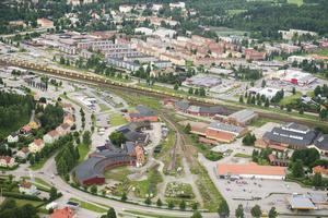 Här på SJ-området kan den nya bandyhallen byggas.