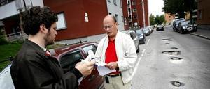 Leif liljeberg tar emot läsarnas tips om potthål.