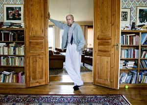 Författaren och akademiledamoten Torgny Lindgren i sitt hem i Rimforsa.