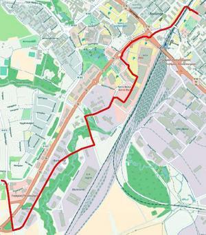 Den nya linjen går från Stationsgatan, via Norra Backa till hållplats Mats Knuts.