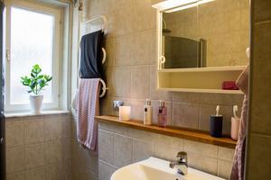 I huset på Skälby fanns ett separat badrum för barnen och ett för föräldrarna.