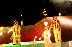 Nycirkusföreställningen avslutades med en spektakulär eldshow.