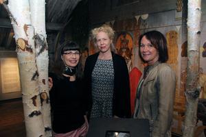 Annika Petersson, Catharina Enhörning och Chia Jansson, tre av namnen bakom utställningen