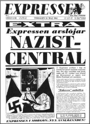 Expressens förstasida 11 maj 1965