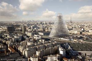 Skiss på Paris nya siluett.