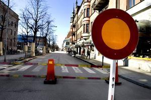 Från och med i går är Nygatan avstängd på grund av Stortorgets ombyggnad som ska pågå i mer än ett år. När allt är klart stängs delar av gatan av permanent, förutom för buss och taxi.