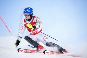 Mattias Hargin vid den nyliga världscupslalomen i Åre. 2017 kan det bli junior-VM på samma ort.