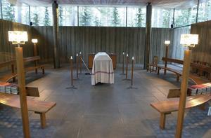 Allt fler väljer en borgerlig begravning, Bilden är från kapellet vid Skogskyrkogården. Foto: LARS NYQVIST/Arkiv