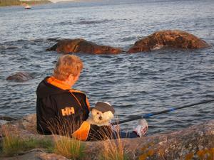 En härlig sommarkväll med havsfiske.