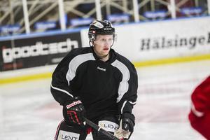 Sonny Karlsson under en kortare sejour i Hudik Hockey.