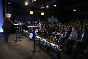 Peter Hultqvist under fjolårets Folk och Försvars rikskonferens i Sälen.