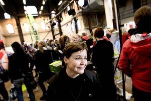 """Anna Giljam Nilsson, rektor för Realgymnasiet, tycker att det är fantastiskt roligt att friskolorna har gått ihop och ordnat en gemensam gymnasiemässa. """"Det är ett bra sätt för oss att nå ut"""", säger hon."""