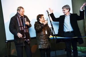Landshövding Bo Källstrand, kommunalråd Elvy Söderström och Vindins vd Anders Lyberg höll tal. Alla var de fulla av energi.