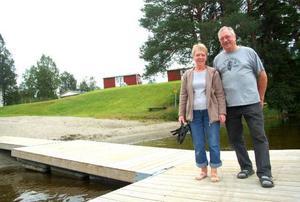 """Varje år har campingen i Hoting mellan 6000 och 7000 gästnätter. """"Vi kommer att öka  i år"""", säger Harry Jonsson som driver anläggningen tillsammans med frun Ulla-Britt.Foto: Jonas Ottosson"""