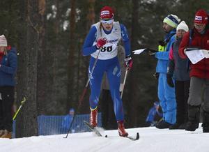 Stina Nilsson under kvalet på lördagen.