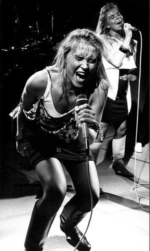 Lili & Susie 1985. Bilden som ledde till att VLT-fotografen Kenneth Hudd fick plåta deras skivomslag.