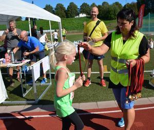 Yngst i juniorklassen var 7-åriga Elvira Lindberg från Hedemora.