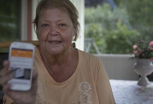 För Inger Nyman är helahälsinglandappen den enda nyhetsapp hon behöver.
