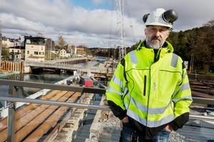 Christer Westergren, byggledare för slussen.