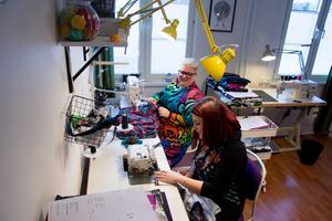 Lokalen på Brunflovägen är 100 kvadratmeter och har även en syateljé  där Zanna Tängström och Amanda Lindqvist spenderar en stor del av sin tid.