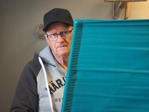 En av härjedalingarna som förtidsröstade redan på onsdagen var Sören Mårtensson i Vemdalen.
