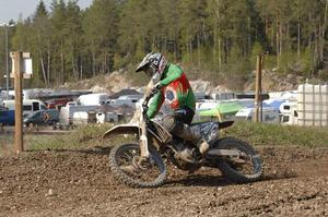 Viking Lindström tog en andraplats i JSM-deltävlingen i Vrigstad.