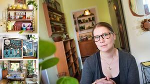 Malin Wennberg har inrett hela sitt hem med saker från 1950- och 60-talet.  Genom att köpa på loppisar har hon kunnat skaffa sig ett hem med mängder av fina designföremål – för lite pengar.