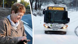 Ingrid Hassel fick beskedet om att kollektivtrafikmyndigheten fattat beslut om att Timrå kan införa gratiskort för barn och ungdomar av Stefan Dalin (S), vice ordförande i kommunstyrelsen.