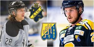 AIK:s Oskar Drugge och SSK:s Bobbo Petersson. Foto: Mittmedia och Bildbyrån.