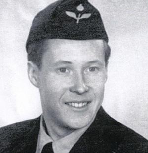 Arne Nordfjäll som rekryt. Foto: Okänd